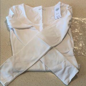 Brand new white long sleeve bodysuit XS
